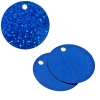 Sequins Hologram 40mm 4mm Hole Round Royal Blue